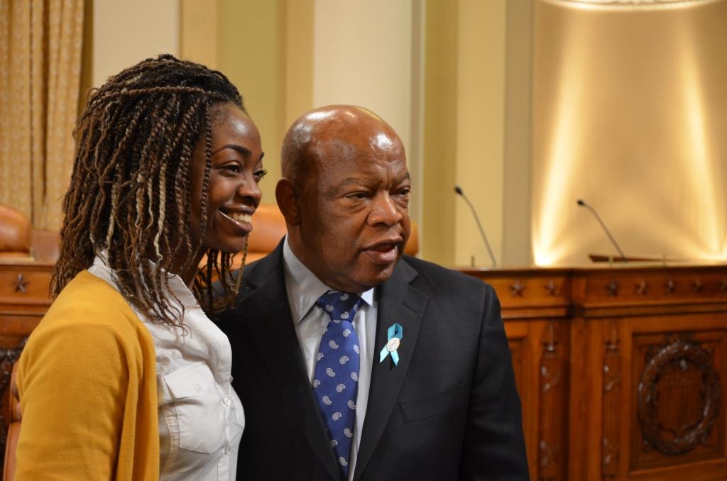 Talitha and Representative Joe Lewis