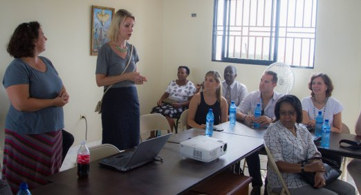 The delegation met from Bethany Global and learned about one of the first foster care in Haiti.